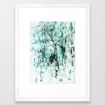 Green texture - 20x26 - Framed - Society6