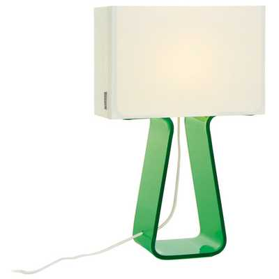 Colorful Tube Top 14'' H Table Lamp with Rectangular Shade - AllModern