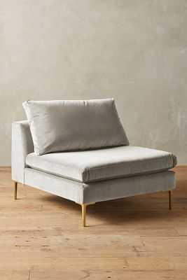 Velvet Edlyn Chair - Light Grey - Anthropologie
