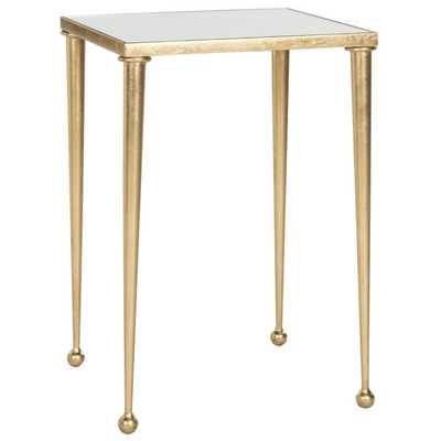 Safavieh Nyacko Antique Gold Leaf End Table - Overstock