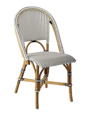 Riviera Side Chair-Black - Serena and Lily
