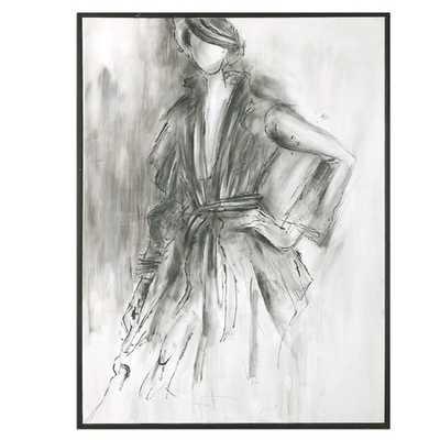 "Charcoal Sketch Framed Print - 9.5"" H x 37.5"" W - jossandmain.com"