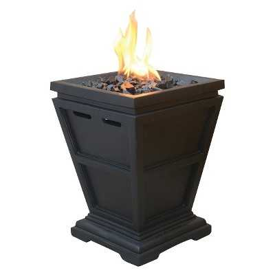 """Uniflame Small 15"""" LP Gas Fire Column with Black Fire Glass - Target"""