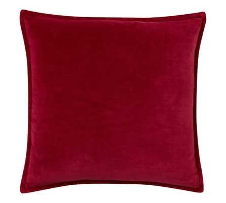 "Washed Velvet 20""sq. Hibiscus Pillow Cover -  insert sold separately. - Pottery Barn"