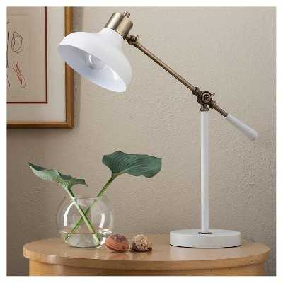 "Crosby Schoolhouse Desk Lamp - White (Includes CFL Bulb) - Thresholdâ""¢ - Target"