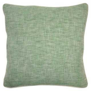 Heidi 22x22 Pillow, Green - One Kings Lane