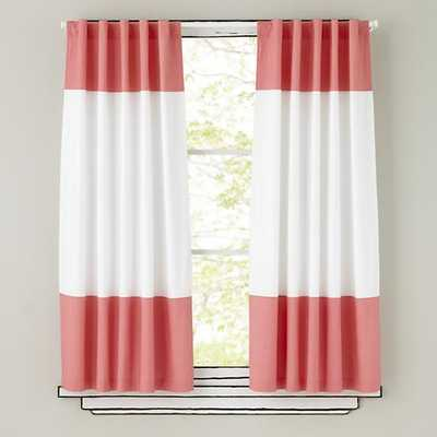 """63"""" Pink Color Edge Curtain - Land of Nod"""