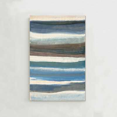 """Sarah Campbell Wall Art - Oversized Abstract Waves - 29""""w x 42""""l - unframed - West Elm"""