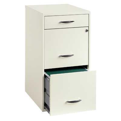 Steel 3 Drawer Filing Cabinet - Wayfair