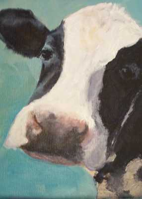 "Maude- Holstein Cow Digital - 8"" x 10"" - Unframed - Etsy"