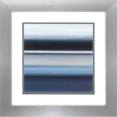 "Indigo 2 Piece Graphic Art Set - 20"" H x 20"" W - Framed with Mat - Wayfair"
