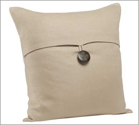 "TEXTURED LINEN PILLOW COVER-18""-no insert - Pottery Barn"