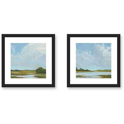 Gallery Direct Kim Coulter 'Summer Clouds' 2-piece Framed Art Set - Overstock