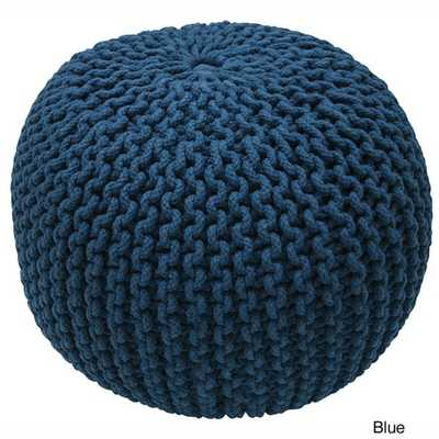nuLOOM Handmade Casual Living Disco Cables Pouf - Overstock