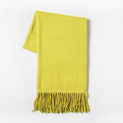 Warmest Throw - Yarn Dyed - Horseradish - West Elm