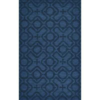 Grand Bazaar Hand Woven 100-percent Wool Pile Crescent Rug in Cobalt 5' x 8' - Overstock