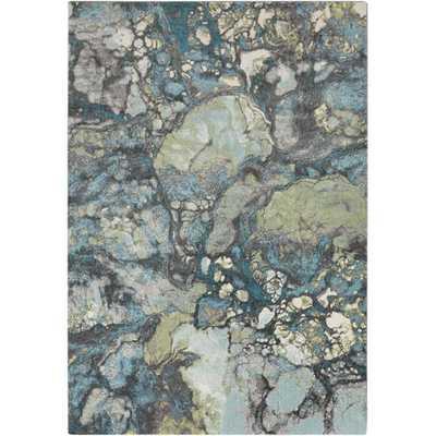 Aberdine Gray & Teal Area Rug - AllModern