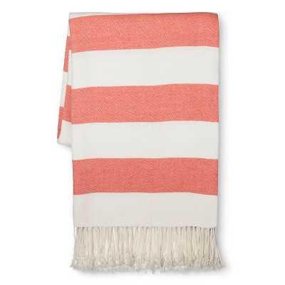 Stripe Throw Blanket - Orange shade - Target
