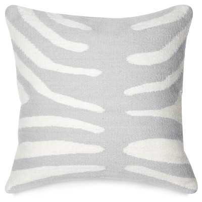 """Pop Zebra Wool Throw Pillow, Grey / Natural - 16"""" Sq - Down/Feather - Wayfair"""