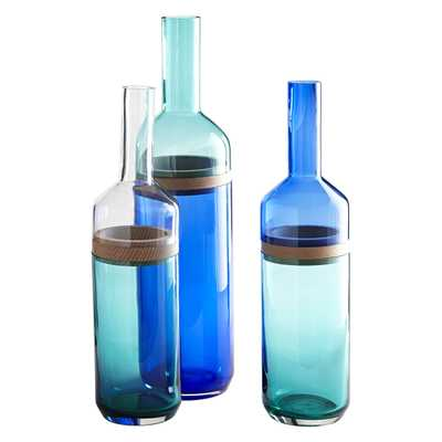 SPLIT-TOP BOTTLE VASES (Set of 3) - Wisteria
