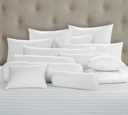 """Synthetic Bedding Pillow Inserts - 22"""" sq.-White - Synthetic-fill insert - Pottery Barn"""