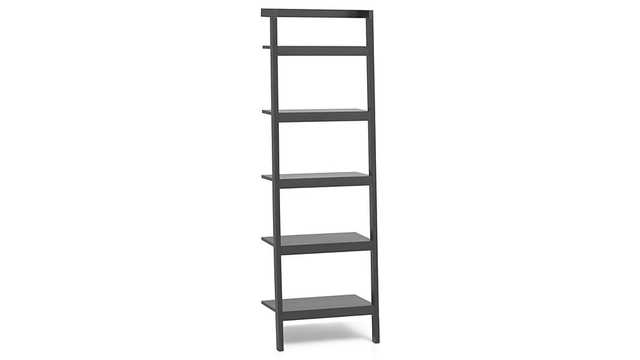 """Sawyer Grey Leaning 24.5"""" Bookcase - Crate and Barrel"""
