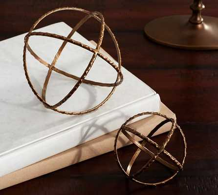 Textured Metal Sphere - Large - Pottery Barn