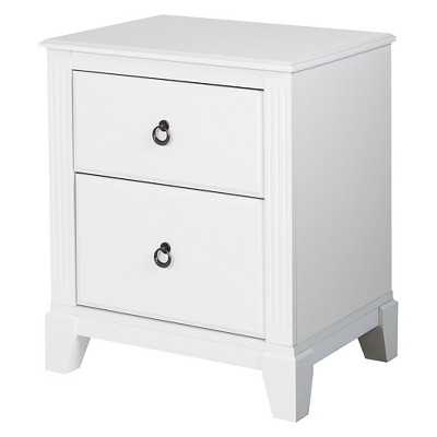 Southshore Ariella 2-Drawer Nightstand - White - Target
