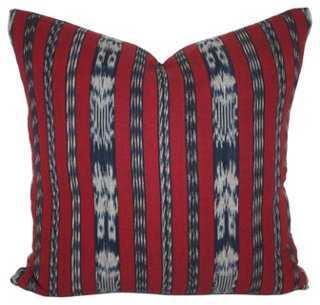 Ikat Striped Pillow - One Kings Lane