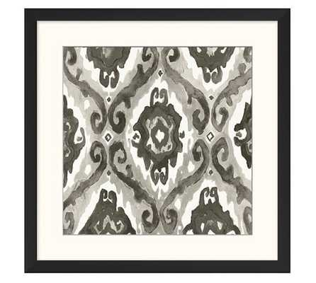 "GRAY IKAT PRINTS -  ECLECTIC - 21"" - GRAY - FRAMED - Pottery Barn"