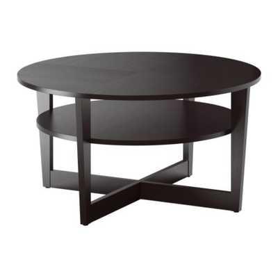 VEJMON Coffee table, black-brown - Ikea