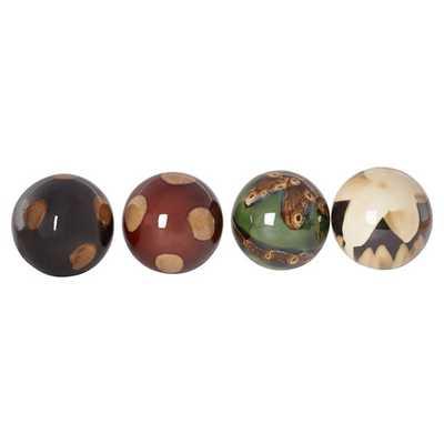 4 Piece Ceramic Ball Sculpture Set - AllModern