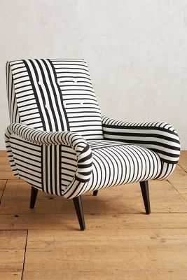 Striped Losange Chair - Anthropologie