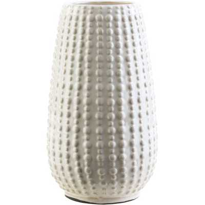 """Clearwater Table Vase - Ivory - 9.65""""H - AllModern"""