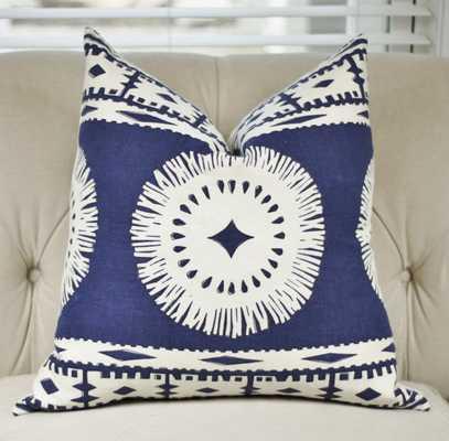 Marine Blue Mary McDonald Pillow - 18'x18' - Insert sold separately - Etsy
