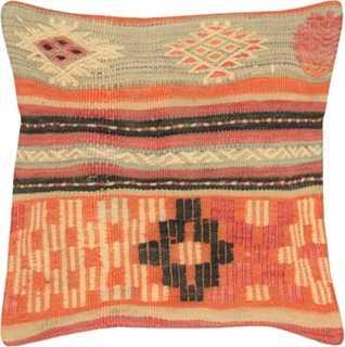 "Turkish Kilim Pillow, 15"" x 15"" - polyfill - One Kings Lane"