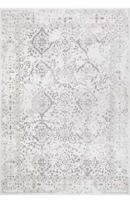 "Bosphorus Floral Ornament BD21 Rug - Ivory - 7' 10"" x 10' 10"" - Rugs USA"