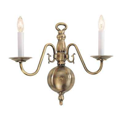 Williamsburgh 2 Light Wall Sconce - Wayfair