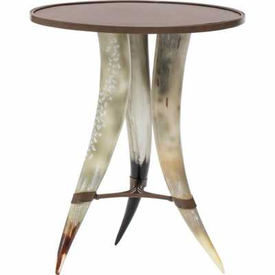 Texas Horn Round Chairside Table - High Fashion Home