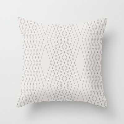 "VS01-Indoor Pillow -16"" x 16""-Cream-With Insert - Society6"