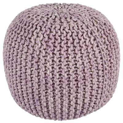 "2-Tone 16"" Purple Cotton Rope Pouf - Overstock"