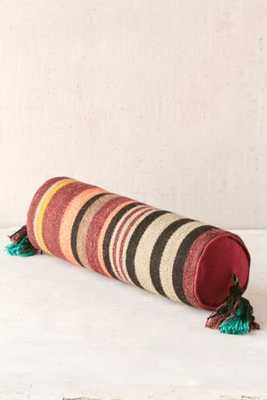 "Magical Thinking Fezo Woven Bolster Pillow - Orange - 6""w x 18""l - Insert Sold Separately - Urban Outfitters"