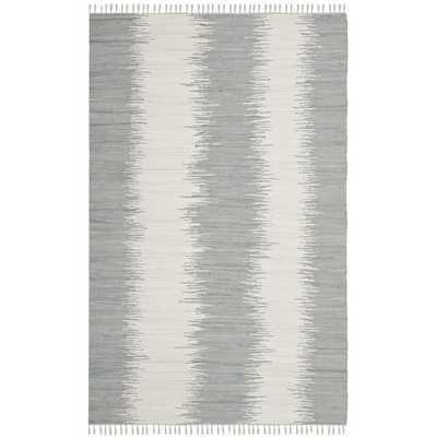 Safavieh Hand-woven Montauk Grey Cotton Rug (9' x 12') - Overstock