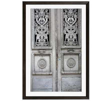 Rustic Grey Door by Rebecca Plotnick - 28x42 - Framed - Mat - Pottery Barn