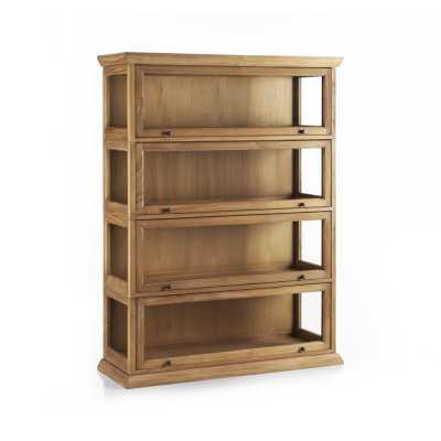 Atticus 4-Piece Barrister Bookcase - Crate and Barrel