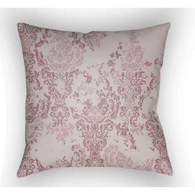"Moody Damask Throw Pillow - Pink - 18"" Square - Polyfill - Wayfair"