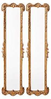 Paneled Ornate Mirror Set, Gold - One Kings Lane