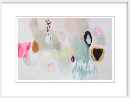 Large white abstract Giclée original modern print - Etsy
