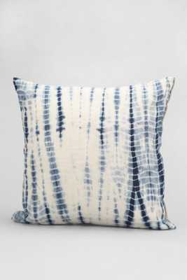 "Magical Thinking Shibori Streak Pillow- 16"" Sq- Blue- Insert Sold Separately - Urban Outfitters"