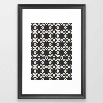 Black Ikat - 15x21 - Framed - Society6